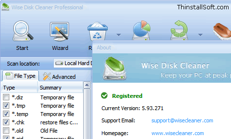 Wise Disk Cleaner Portable