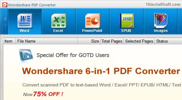 Wondershare PDF Converter Portable