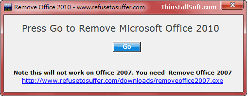 Remove Office 2010 Portable