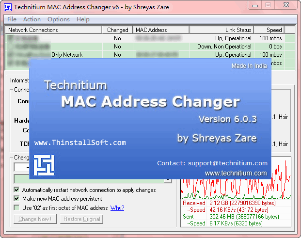 Technitium MAC Address Changer Portable