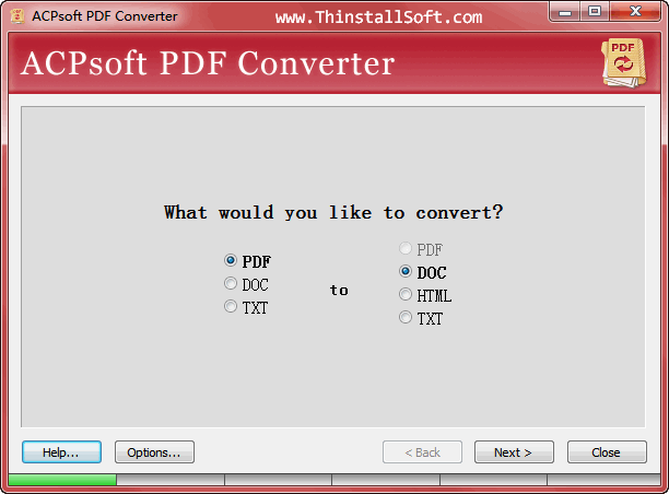 ACPsoft PDF Converter Portable