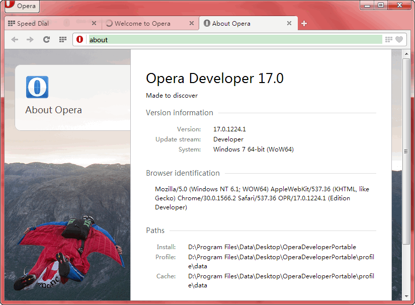 Opera Developer Portable
