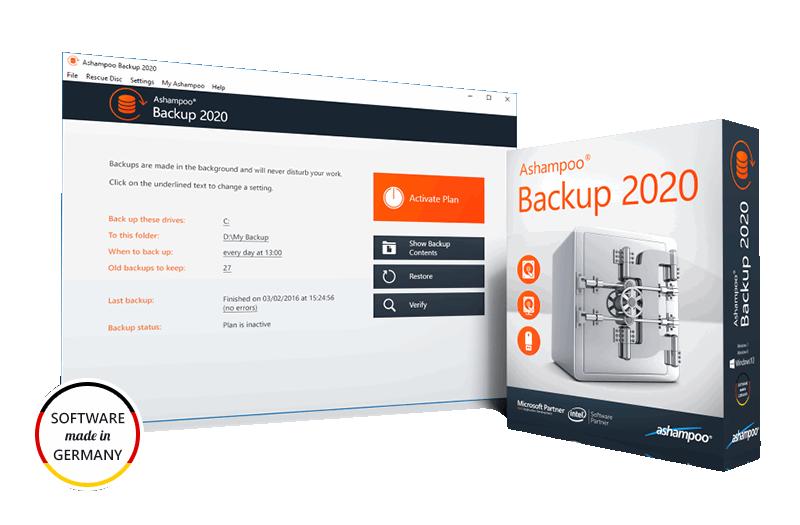 Ashampoo Backup 2020 Giveaway Version